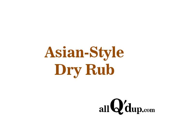 Asian Dry Rub