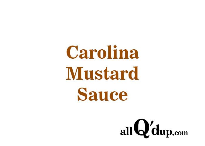 Carolina Mustard Sauce