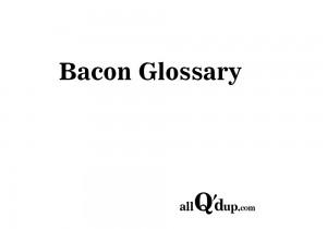 bacon-glossary