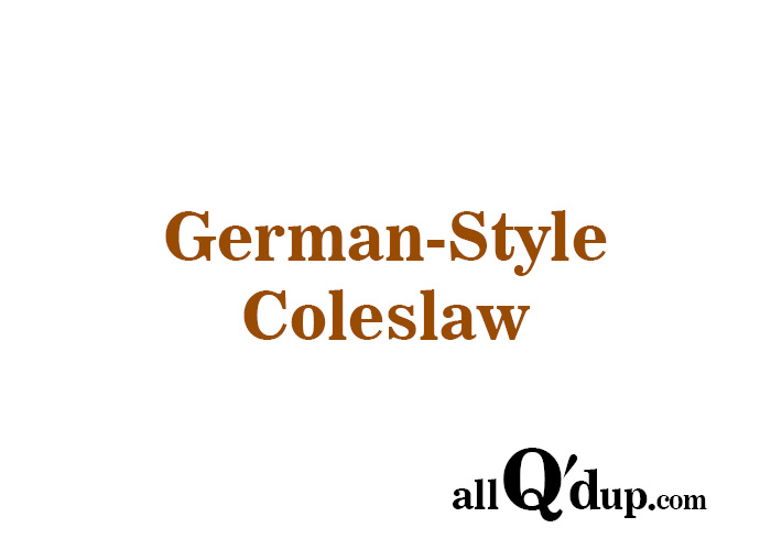 German-Style Coleslaw