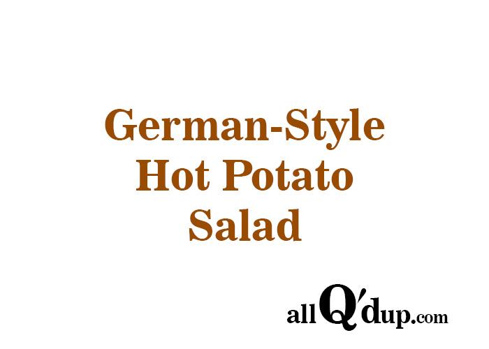 German-Style Hot Potato Salad
