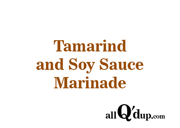 Tamarind and Soy Sauce Marinade
