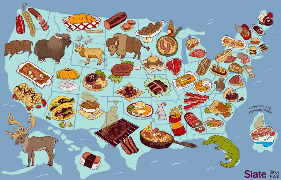 If All U.S. States Had Official Meats, What Would They Be?